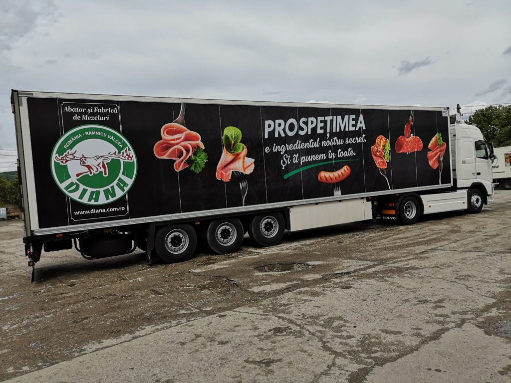autocolant tir flota auto colantare tiruri diana valcea top advertising productie publicitara valcea