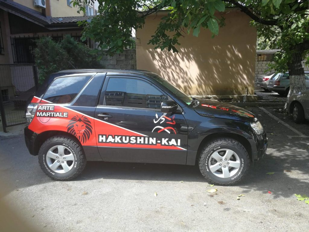 productie publicitara valcea top advertising hakushin kai autocolant masina