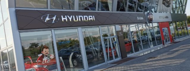 branding fatada hyundai brodmi valcea top advertising